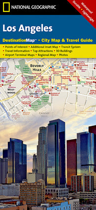 Buy map Los Angeles, California DestinationMap by National Geographic Maps