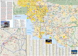 Los Angeles, California DestinationMap by National Geographic Maps - Back of map