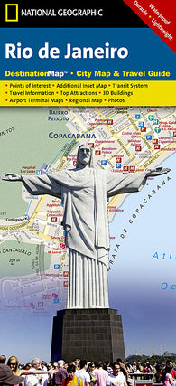 Buy map Rio de Janeiro, Brazil DestinationMap by National Geographic Maps