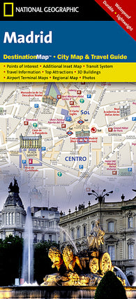 Buy map Madrid, Spain DestinationMap by National Geographic Maps