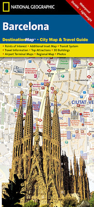Buy map Barcelona, Spain DestinationMap by National Geographic Maps