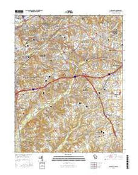 Anacostia District of Columbia Current topographic map, 1:24000 scale, 7.5 X 7.5 Minute, Year 2016