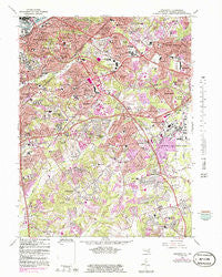 Anacostia District of Columbia Historical topographic map, 1:24000 scale, 7.5 X 7.5 Minute, Year 1965
