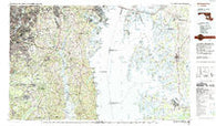 Washington East District of Columbia Historical topographic map, 1:100000 scale, 30 X 60 Minute, Year 1983