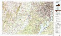 Washington West District of Columbia Historical topographic map, 1:100000 scale, 30 X 60 Minute, Year 1986