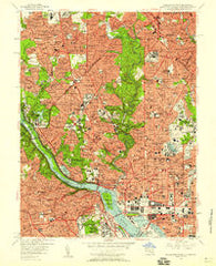 Washington West District of Columbia Historical topographic map, 1:24000 scale, 7.5 X 7.5 Minute, Year 1956