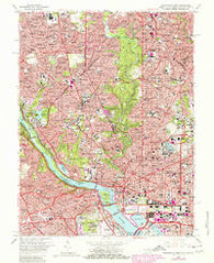 Washington West District of Columbia Historical topographic map, 1:24000 scale, 7.5 X 7.5 Minute, Year 1965