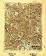 Washington West District of Columbia Historical topographic map, 1:31680 scale, 7.5 X 7.5 Minute, Year 1945