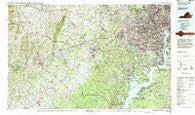 Washington West District of Columbia Historical topographic map, 1:100000 scale, 30 X 60 Minute, Year 1982