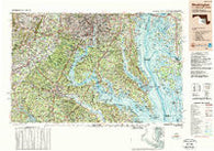 Washington District of Columbia Historical topographic map, 1:250000 scale, 1 X 2 Degree, Year 1989
