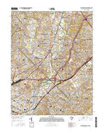 Washington East District of Columbia Current topographic map, 1:24000 scale, 7.5 X 7.5 Minute, Year 2016 from District of Columbia Map Store