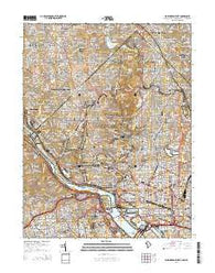 Washington West District of Columbia Historical topographic map, 1:24000 scale, 7.5 X 7.5 Minute, Year 2014