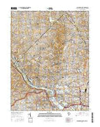 Washington West District of Columbia Current topographic map, 1:24000 scale, 7.5 X 7.5 Minute, Year 2016 from District of Columbia Map Store