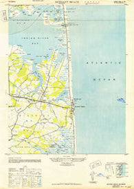 Bethany Beach Delaware Historical topographic map, 1:24000 scale, 7.5 X 7.5 Minute, Year 1943