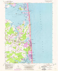 Bethany Beach Delaware Historical topographic map, 1:24000 scale, 7.5 X 7.5 Minute, Year 1954