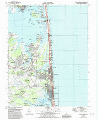 Bethany Beach Delaware Historical topographic map, 1:24000 scale, 7.5 X 7.5 Minute, Year 1984