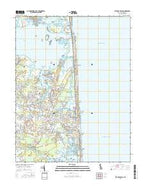 Bethany Beach Delaware Current topographic map, 1:24000 scale, 7.5 X 7.5 Minute, Year 2016 from Delaware Map Store