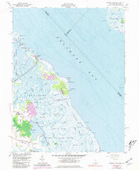 Bombay Hook Delaware Historical topographic map, 1:24000 scale, 7.5 X 7.5 Minute, Year 1956