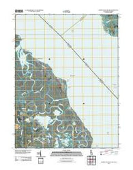 Bombay Hook Island Delaware Historical topographic map, 1:24000 scale, 7.5 X 7.5 Minute, Year 2011