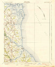 Bowers Delaware Historical topographic map, 1:62500 scale, 15 X 15 Minute, Year 1936