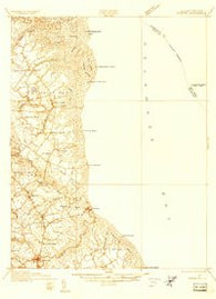 Bowers Delaware Historical topographic map, 1:48000 scale, 15 X 15 Minute, Year 1934