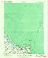 Cape Henlopen Delaware Historical topographic map, 1:62500 scale, 15 X 15 Minute, Year 1918