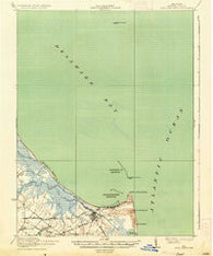 Cape Henlopen Delaware Historical topographic map, 1:62500 scale, 15 X 15 Minute, Year 1937