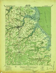 Cedar Creek Delaware Historical topographic map, 1:62500 scale, 15 X 15 Minute, Year 1919