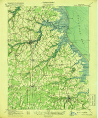 Cedar Creek Delaware Historical topographic map, 1:62500 scale, 15 X 15 Minute, Year 1918