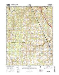 Clayton Delaware Current topographic map, 1:24000 scale, 7.5 X 7.5 Minute, Year 2016