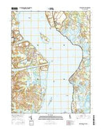 Delaware City Delaware Current topographic map, 1:24000 scale, 7.5 X 7.5 Minute, Year 2016 from Delaware Map Store