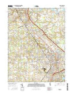 Dover Delaware Current topographic map, 1:24000 scale, 7.5 X 7.5 Minute, Year 2016 from Delaware Map Store