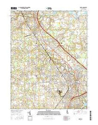 Dover Delaware Current topographic map, 1:24000 scale, 7.5 X 7.5 Minute, Year 2016