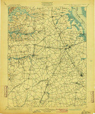 Dover Delaware Historical topographic map, 1:125000 scale, 30 X 30 Minute, Year 1899