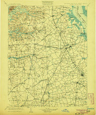 Dover Delaware Historical topographic map, 1:125000 scale, 30 X 30 Minute, Year 1906