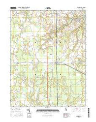 Ellendale Delaware Current topographic map, 1:24000 scale, 7.5 X 7.5 Minute, Year 2016