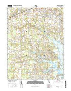 Fairmount Delaware Current topographic map, 1:24000 scale, 7.5 X 7.5 Minute, Year 2016 from Delaware Map Store