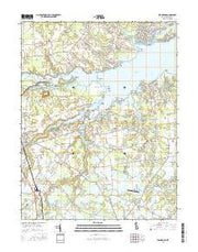 Frankford Delaware Current topographic map, 1:24000 scale, 7.5 X 7.5 Minute, Year 2016 from Delaware Maps Store