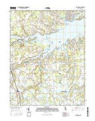 Frankford Delaware Current topographic map, 1:24000 scale, 7.5 X 7.5 Minute, Year 2016