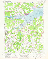 Frankford Delaware Historical topographic map, 1:24000 scale, 7.5 X 7.5 Minute, Year 1955