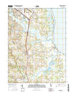 Frederica Delaware Current topographic map, 1:24000 scale, 7.5 X 7.5 Minute, Year 2016 from Delaware Map Store