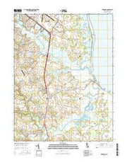 Frederica Delaware Current topographic map, 1:24000 scale, 7.5 X 7.5 Minute, Year 2016 from Delaware Maps Store