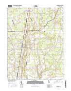 Greenwood Delaware Current topographic map, 1:24000 scale, 7.5 X 7.5 Minute, Year 2016 from Delaware Map Store