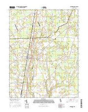 Greenwood Delaware Current topographic map, 1:24000 scale, 7.5 X 7.5 Minute, Year 2016 from Delaware Maps Store