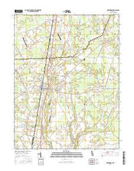 Greenwood Delaware Current topographic map, 1:24000 scale, 7.5 X 7.5 Minute, Year 2016