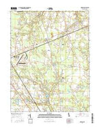 Harbeson Delaware Current topographic map, 1:24000 scale, 7.5 X 7.5 Minute, Year 2016 from Delaware Map Store