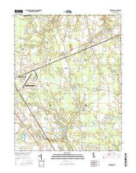Harbeson Delaware Current topographic map, 1:24000 scale, 7.5 X 7.5 Minute, Year 2016