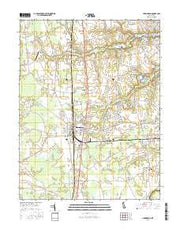 Harrington Delaware Current topographic map, 1:24000 scale, 7.5 X 7.5 Minute, Year 2016 from Delaware Maps Store