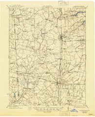 Harrington Delaware Historical topographic map, 1:62500 scale, 15 X 15 Minute, Year 1918
