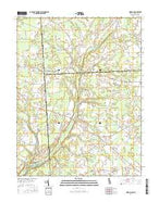 Hickman Delaware Current topographic map, 1:24000 scale, 7.5 X 7.5 Minute, Year 2016 from Delaware Map Store